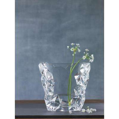 Sculpture 8 in. Crystal Decorative Oval Vase