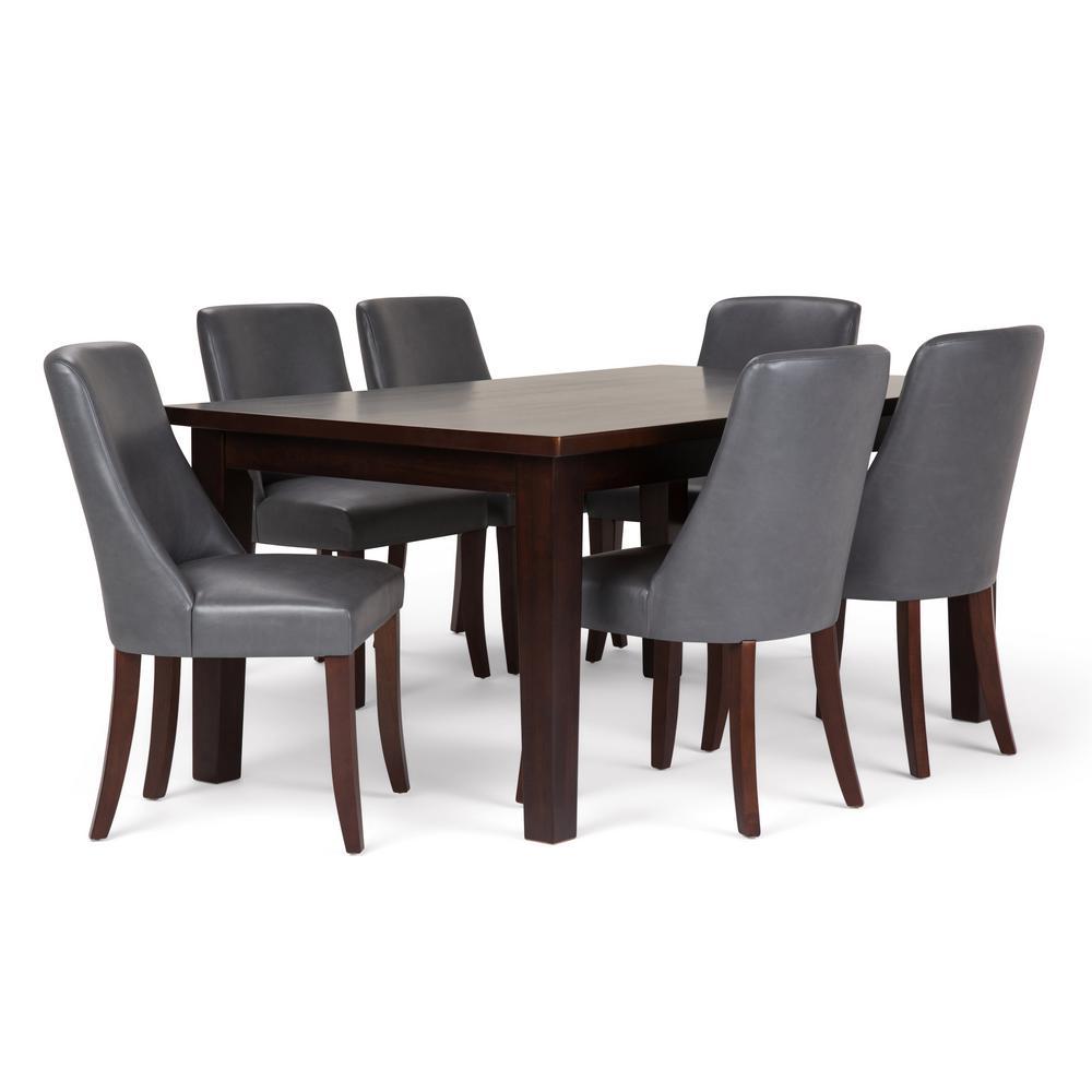 Walden 7-Piece Stone Grey Dining Set