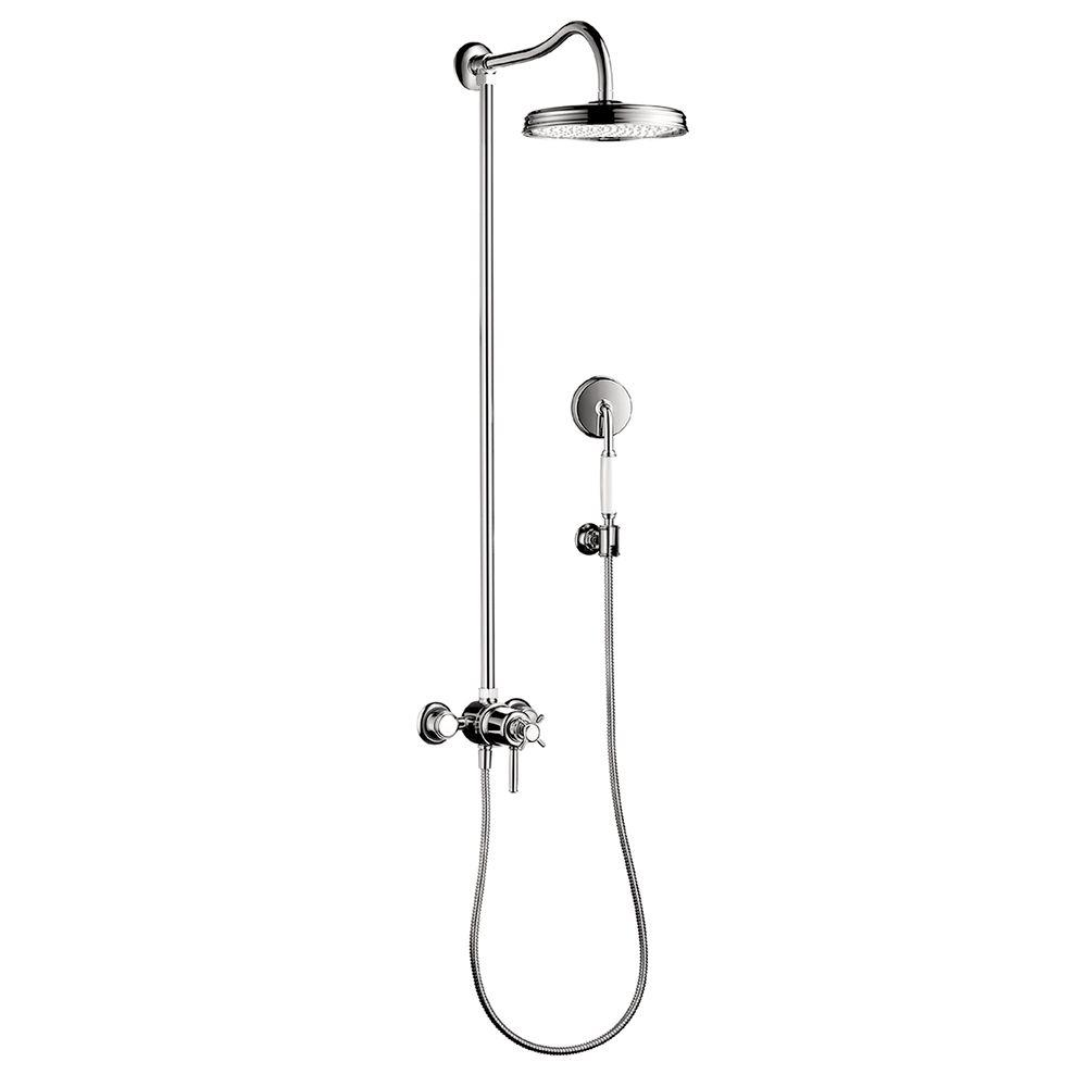 Hansgrohe Montreux 1-Spray Handshower and Showerhead Combo Kit in Chrome (Valve Not Included)