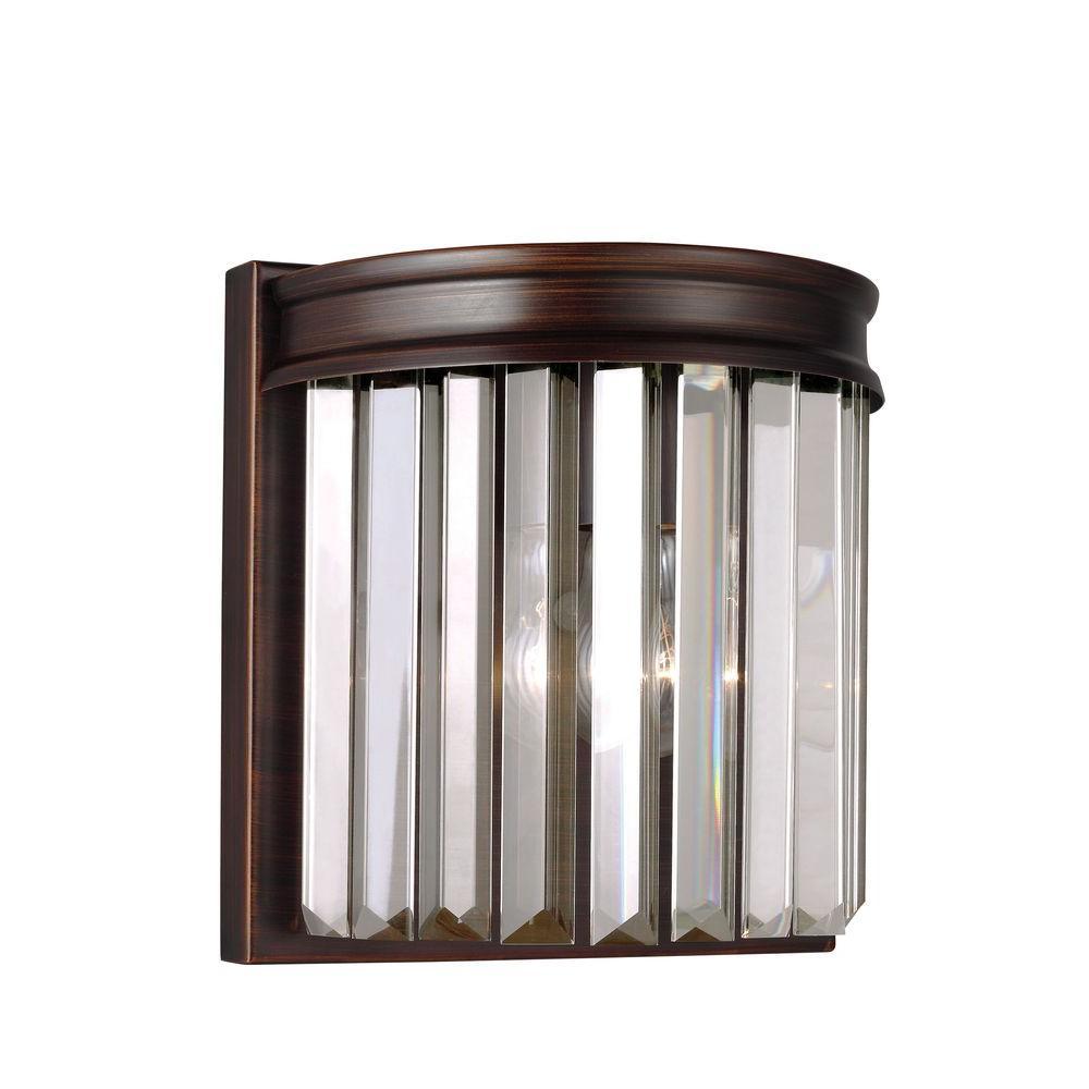 Sea Gull Lighting Carondelet 1-Light Burnt Sienna Wall Sconce