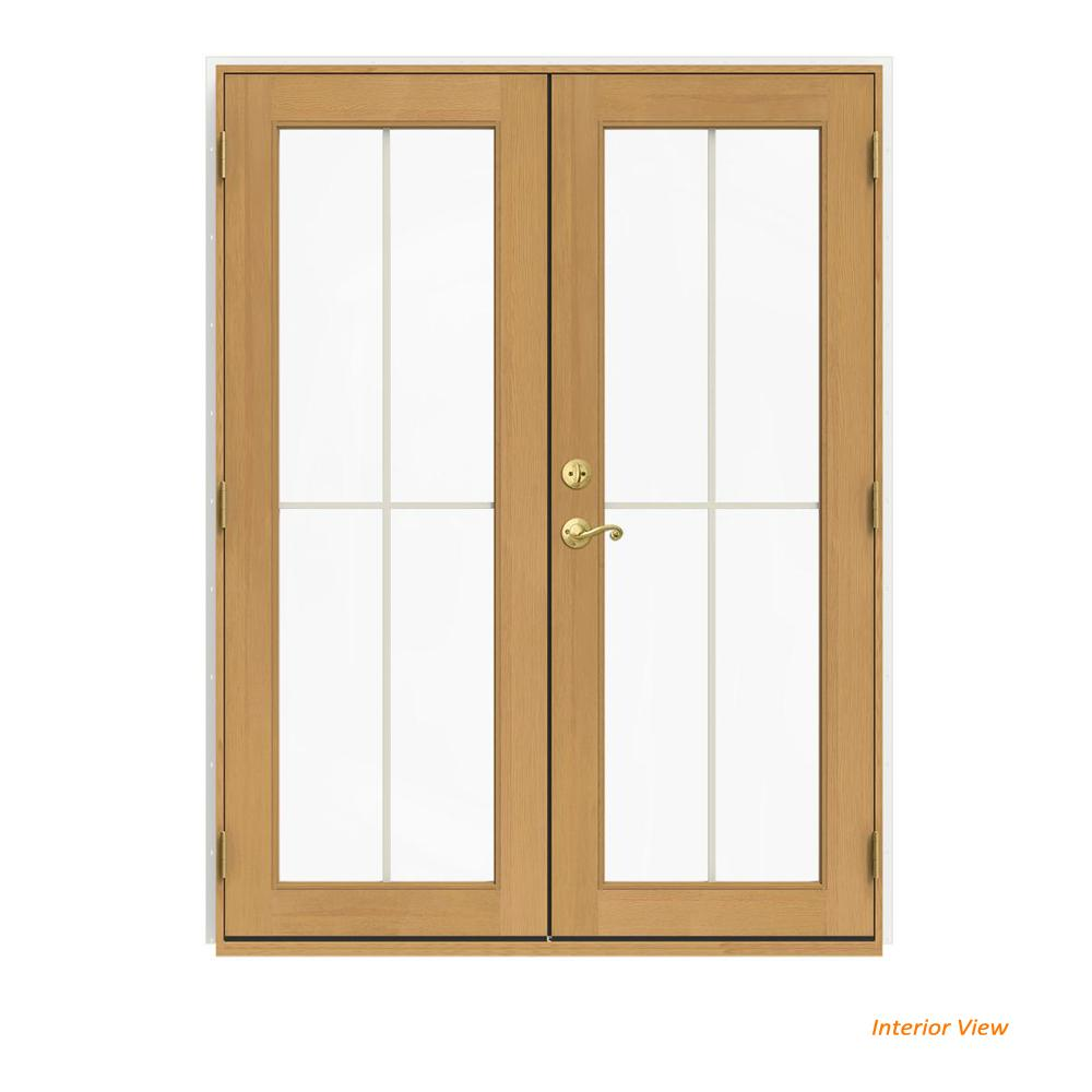 Jeld Wen 60 In X 80 In W 2500 White Clad Wood Left Hand 4 Lite