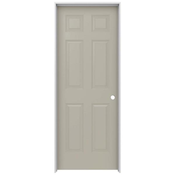 30 in. x 80 in. Colonist Desert Sand Left-Hand Smooth Solid Core Molded Composite MDF Single Prehung Interior Door