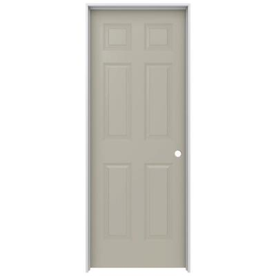 30 in. x 80 in. Colonist Desert Sand Painted Left-Hand Smooth Molded Composite MDF Single Prehung Interior Door