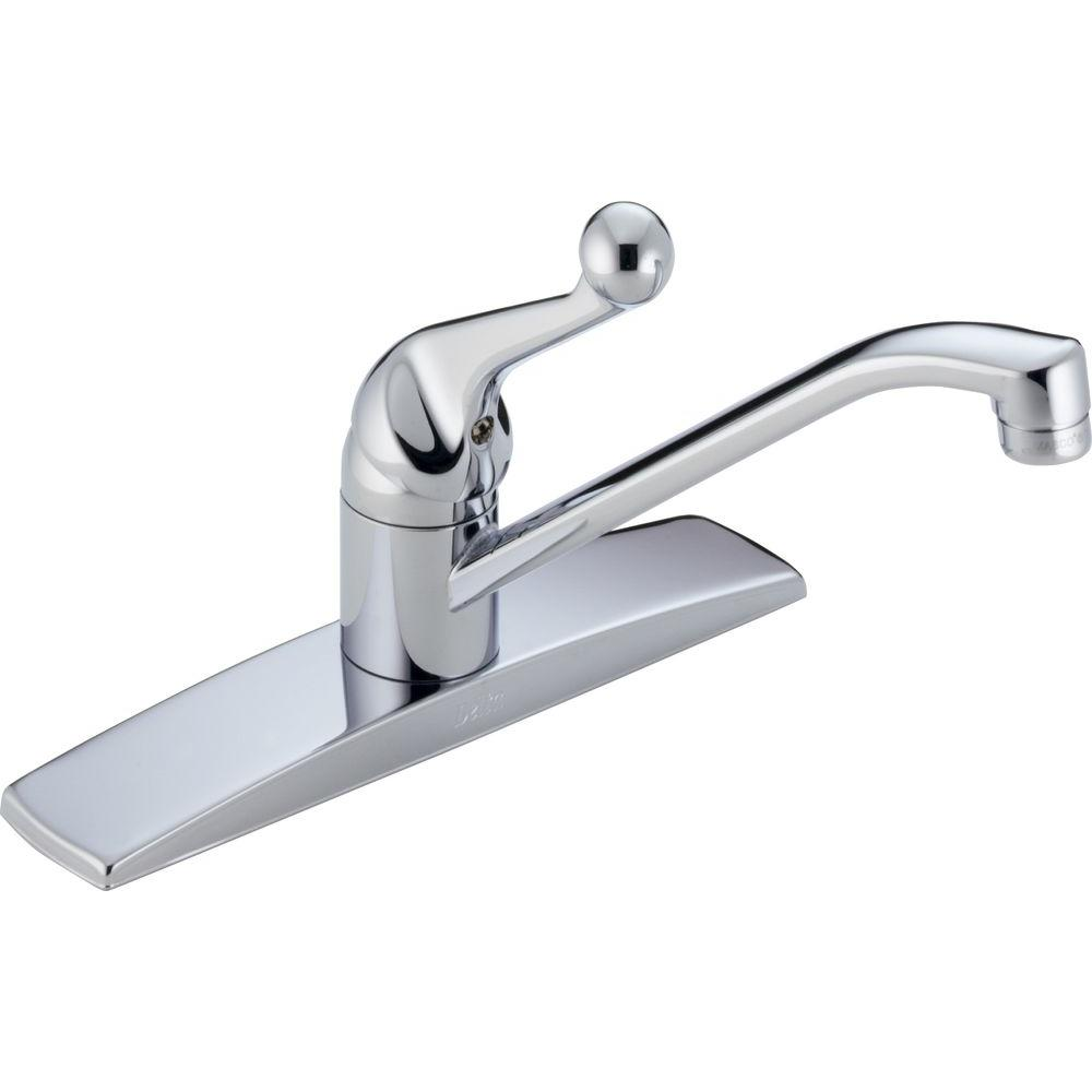Delta Classic Single-Handle Standard Kitchen Faucet in Chrome with ...