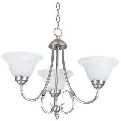 Ultra 22.5 in. 3-Light Satin Nickel Chandelier