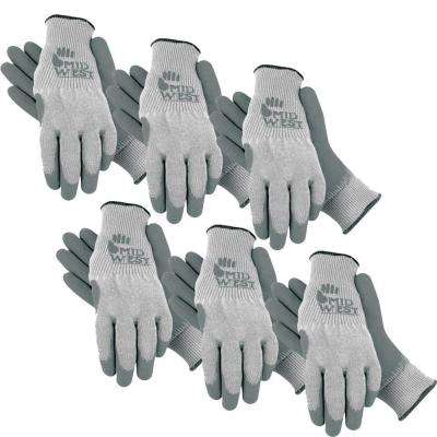 Men's Large Heavy Latex Dipped Acrylic Gloves 6-Pair Pack