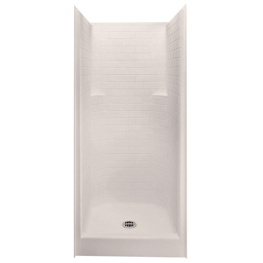 Aquatic Everyday Subway Tile 36 in. x 36 in. x 80 in. 1-Piece Shower ...