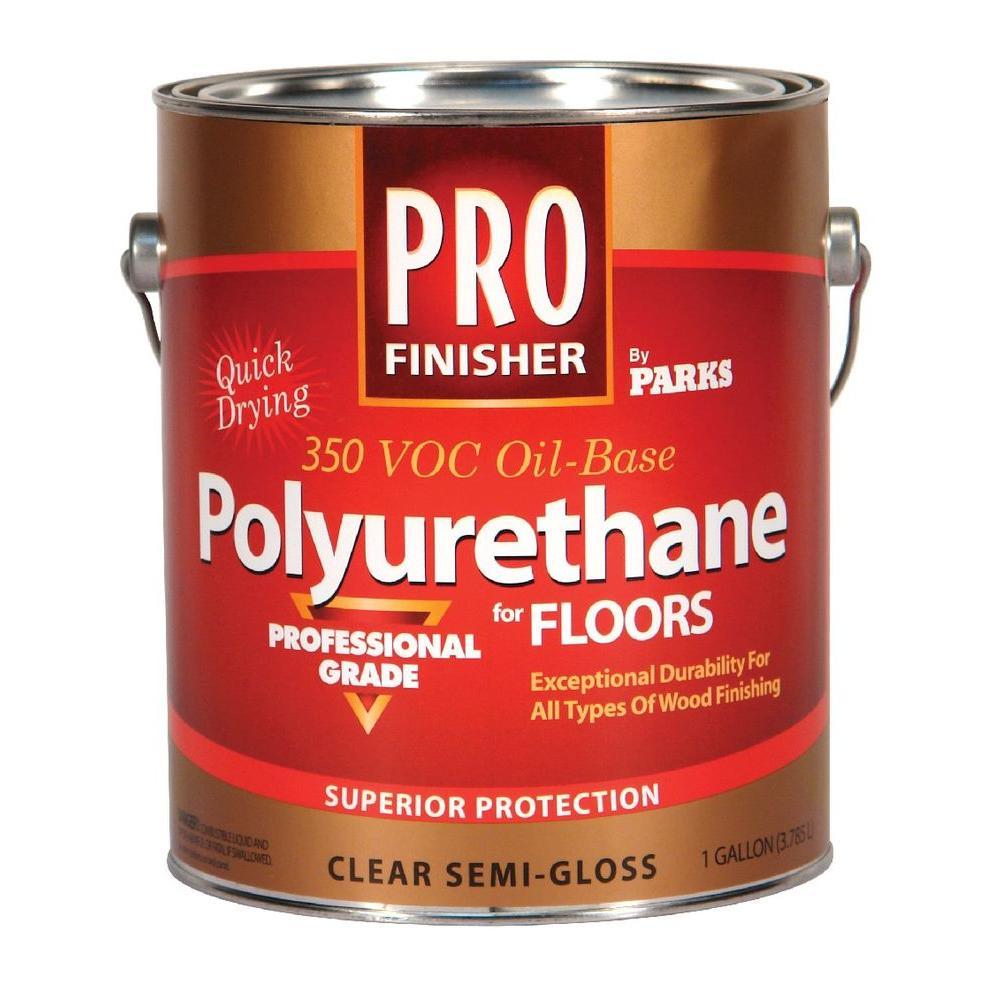 1 gal. Clear Semi-Gloss 350 VOC Oil-Based Interior Polyurethane for Floors