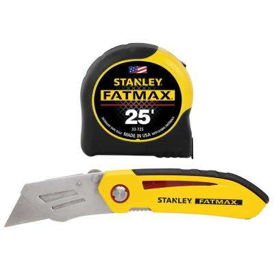 Fatmax 25 ft. Tape Measure with Bonus Fixed Blade Folding Knife