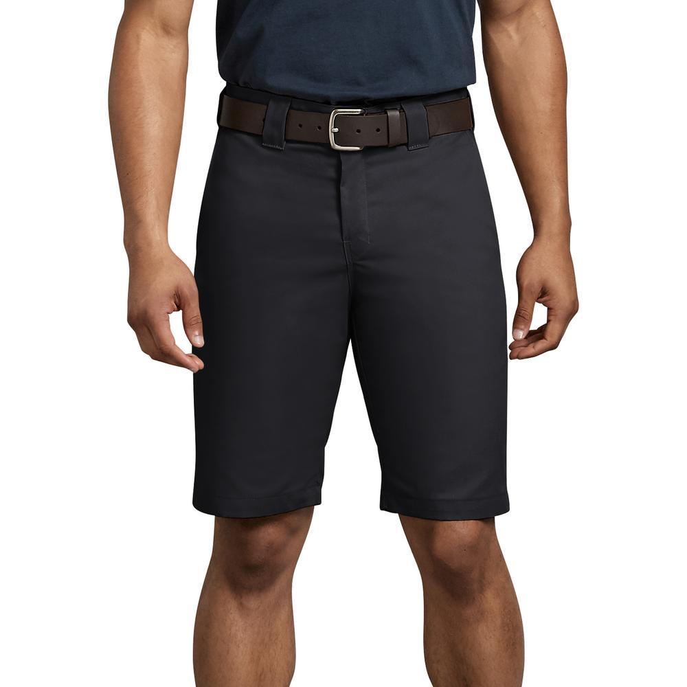 Men's Black Flex 11 in. Regular Fit Work Short