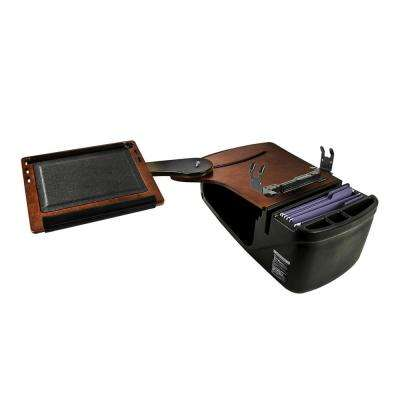 Reach Desk Back Seat Mahogany with Built-in Power Inverter and Printer Stand