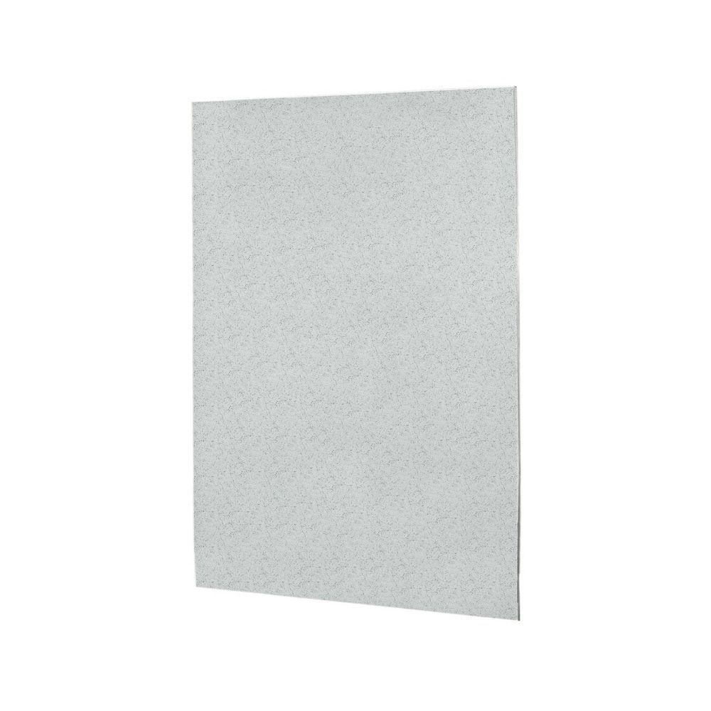 60 in. x 60 in. 1-Piece Easy Up Adhesive Tub Wall