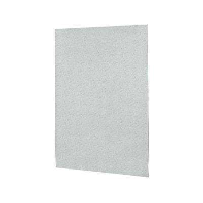 60 in. x 60 in. 1-Piece Easy Up Adhesive Tub Wall Panel in Tahiti Gray