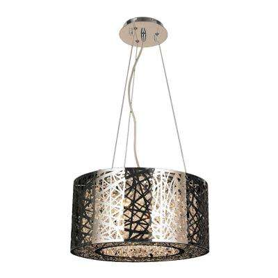 Aramis Collection 6-Light Polished Chrome Chandelier with Clear Crystal