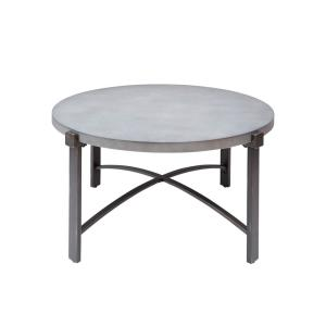Lewis Gray Round Concrete Top Coffee Table