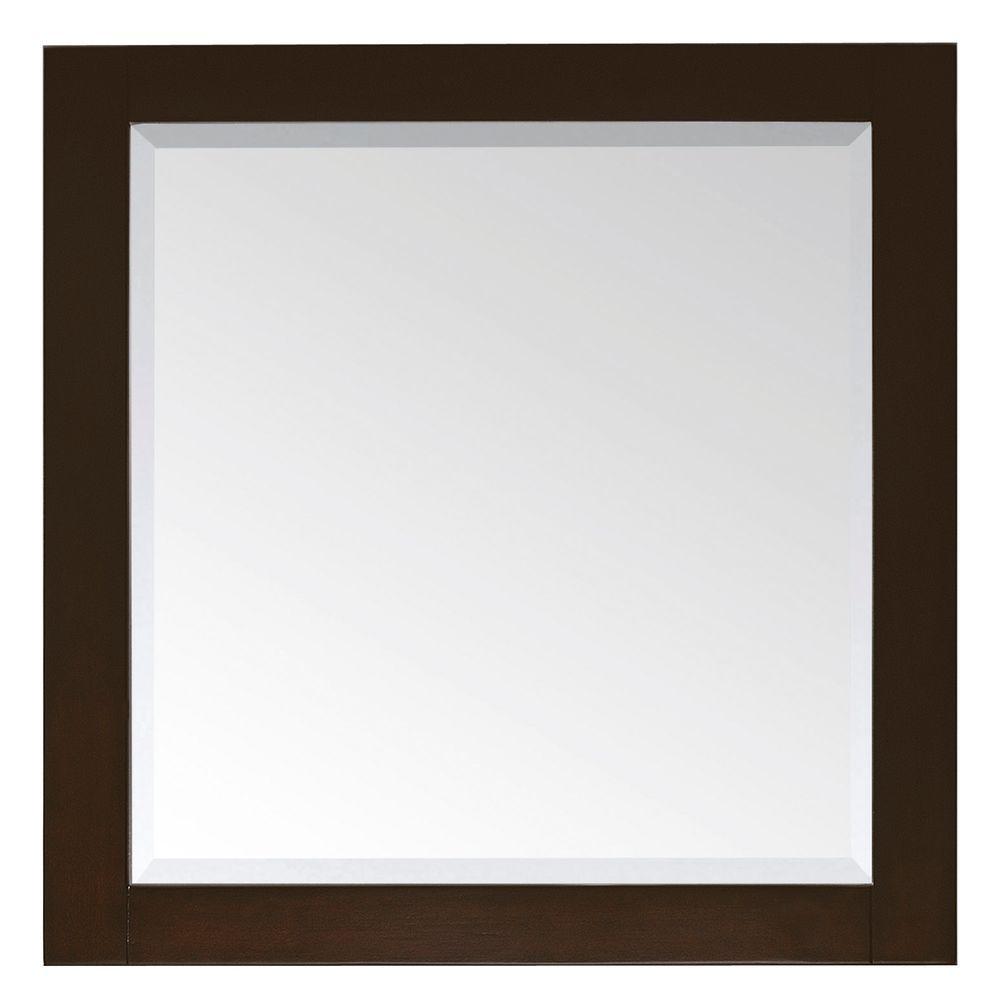 Avanity Lexington 32 in. L x 28 in. W Framed Mirror in Light Espresso