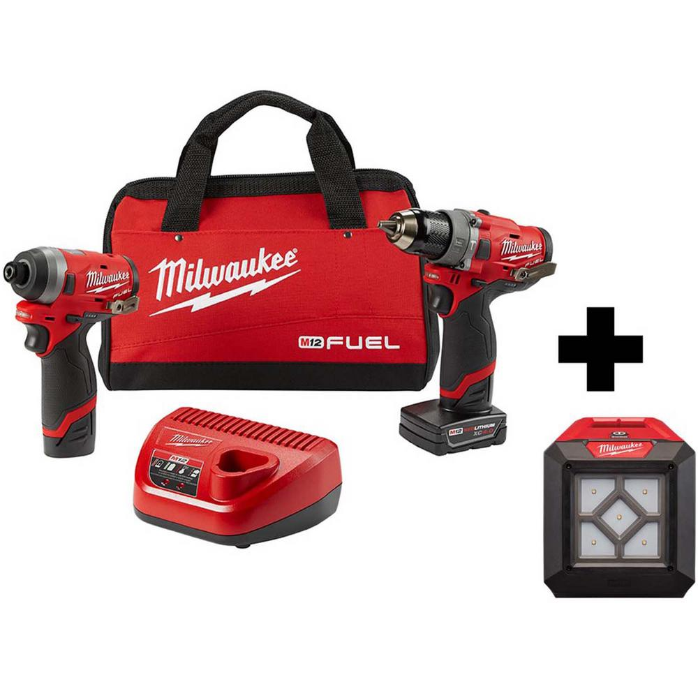 Milwaukee M12 FUEL 12-Volt Li-Ion Brushless Cordless Hammer Drill and Impact Driver Combo Kit with Free LED Flood Light (2-Tool) was $308.0 now $199.0 (35.0% off)