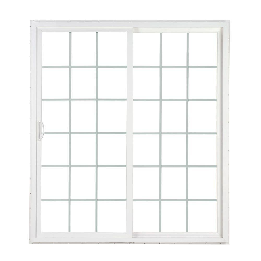 SIMONTON 72 In. X 80 In. 2 Panel Contemporary Vinyl Sliding Patio Door