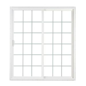 SIMONTON 72 in. x 80 in. 2-Panel Contemporary Vinyl Sliding Patio Door with ProSolar Low-E Glass Grids Custom Interior Hardware-CPD 7280WHL2CAARFS - The ...  sc 1 st  The Home Depot & SIMONTON 72 in. x 80 in. 2-Panel Contemporary Vinyl Sliding Patio ... pezcame.com
