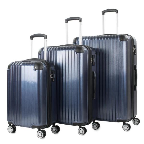 American Green Travel Melrose Blue 3-Piece Polycarbonate Expandable Spinner