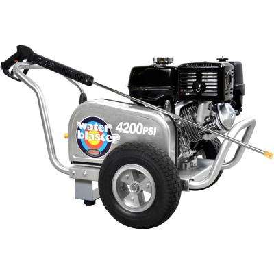 Water Blaster 4200PSI 4.0GPM HONDA GX390 AAA Triplex Plunger Pump Cold Water Professional Belt Drive Gas Pressure Washer