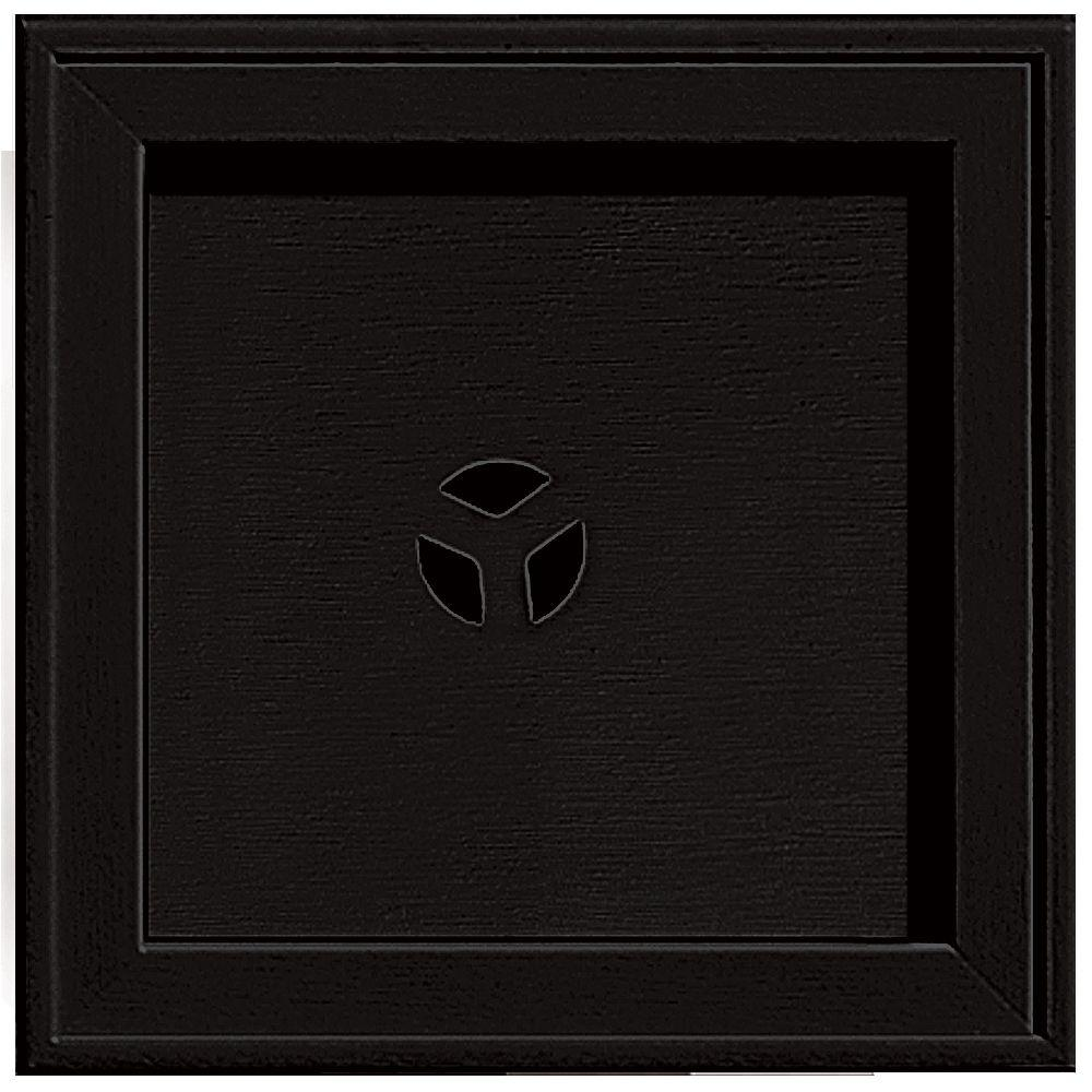 7.75 in. x 7.75 in. #002 Black Recessed Square Universal Mounting