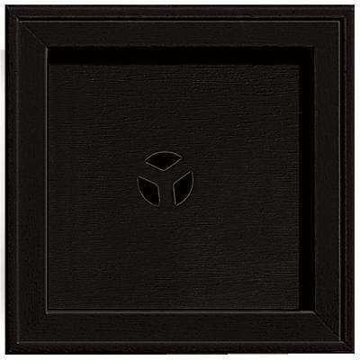 7.75 in. x 7.75 in. #002 Black Recessed Square Universal Mounting Block