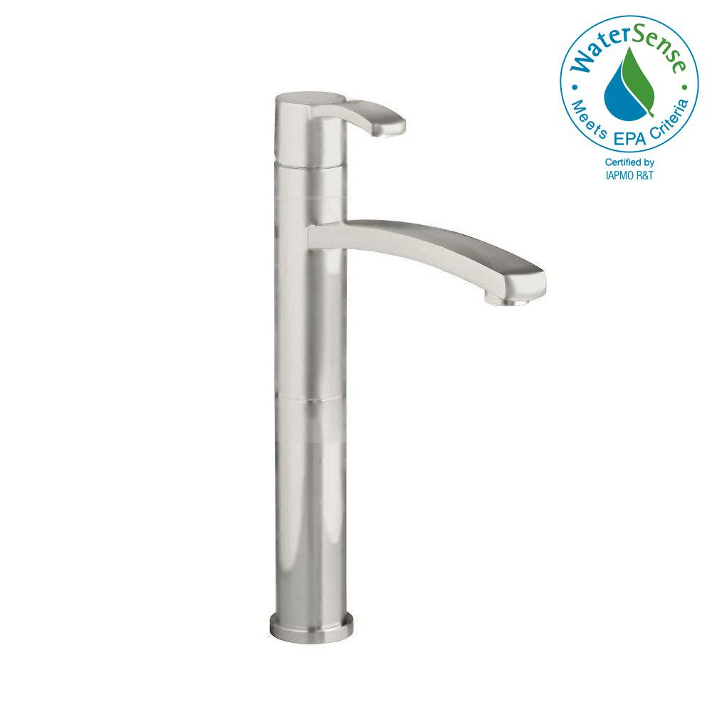 Berwick Single Hole Single-Handle Low-Arc Vessel Bathroom Faucet in Brushed