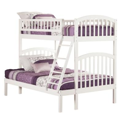 Richland White Twin Over Full Bunk Bed