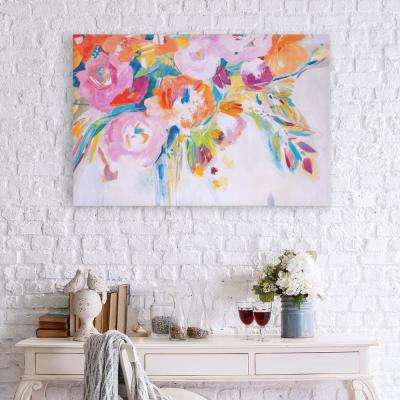 Dance Lessons Floral Canvas Wall Art