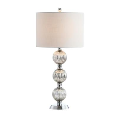 Rita 30.5 in. Silvered Orbs Glass/Metal LED Table Lamp, Chrome