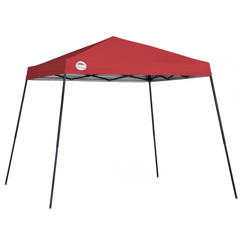 ST56 10 ft. x 10 ft. Red Slant Leg Canopy