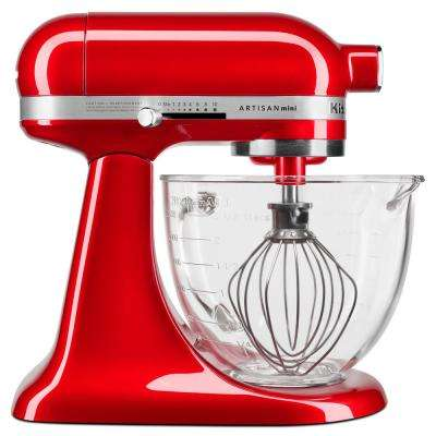 Artisan Mini Design Series 3.5 Qt. 10-Speed Candy Apple Red Stand Mixer with Tilt-Head
