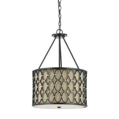 drum shade pendant lighting. cosmo 3light oilrubbed bronze pendant with dark linen shade drum lighting e