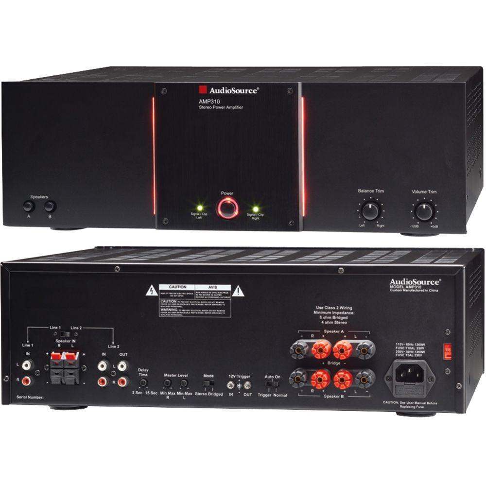 AudioSource AMP Series 2-Channel 150-Watt Audio Distribution Power Amplifier