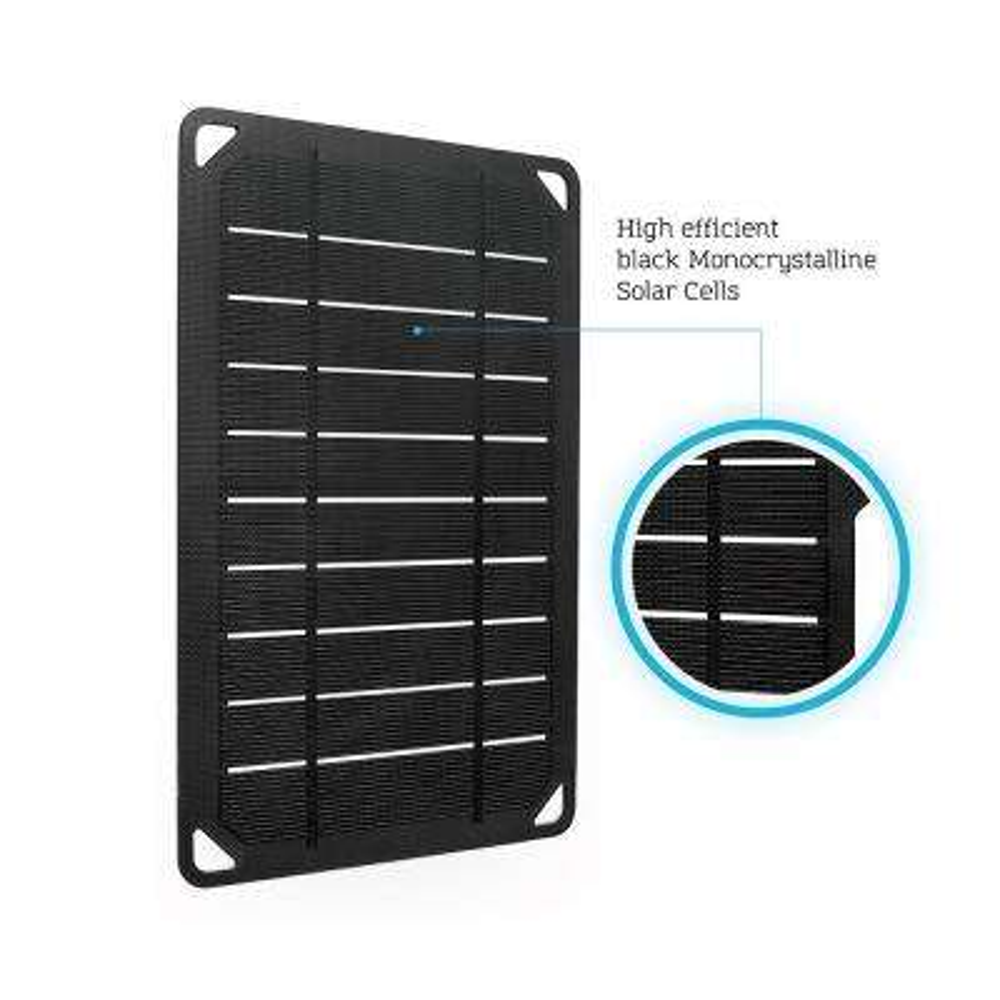 E.Flex 5-Watt Portable Monocrystalline Solar Panel with USB-Port