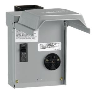 Ge 30 Amp Temporary Rv Power Outlet With Breaker U013cp
