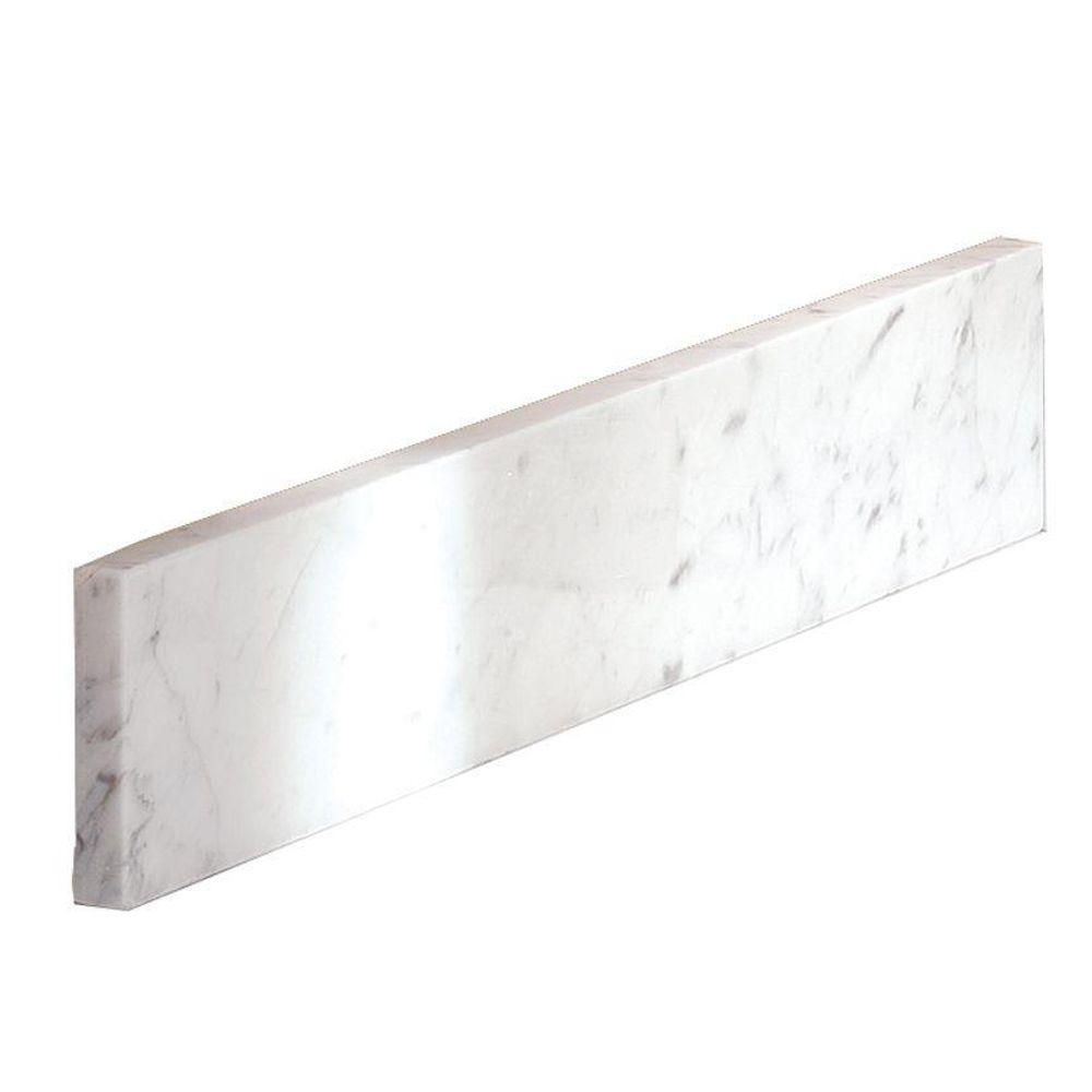 Home Decorators Collection 20 in. Marble Sidesplash in Carrara
