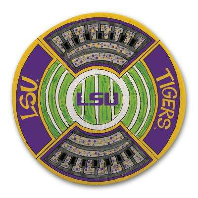LSU Football Stadium Melamine Platter