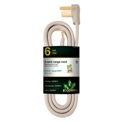 6 ft. 6/2 and 8/1 3-Wire Range Cord