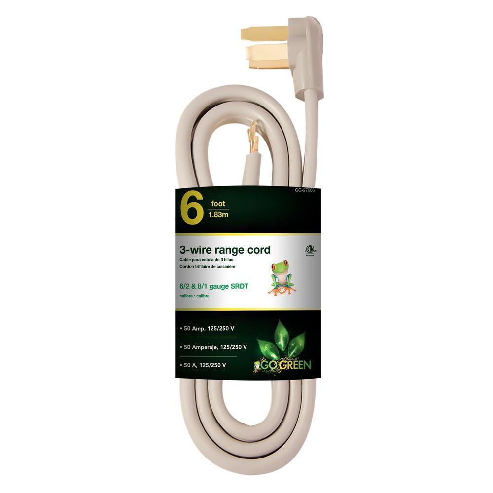 6 ft. 6/1 3-Wire Range Cord