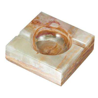 Sugilite Light Olive Onyx Stone Cigar Ashtray with 2-Cigar Rests