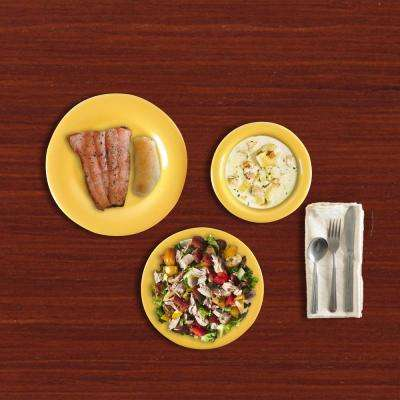 Wide Rim 12-Piece Yellow Dinnerware Set