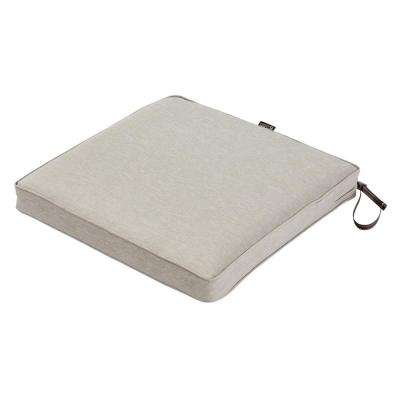 Montlake Fade Safe Heather Grey 18 in. Square Outdoor Seat Cushion