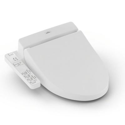 A100 WASHELT Electric Bidet Seat for Elongated Toilet in Cotton White