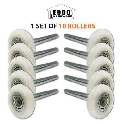 2 in. 13-Ball Nylon Garage Door Rollers with 4 in. Steel Stems (10-Pack)