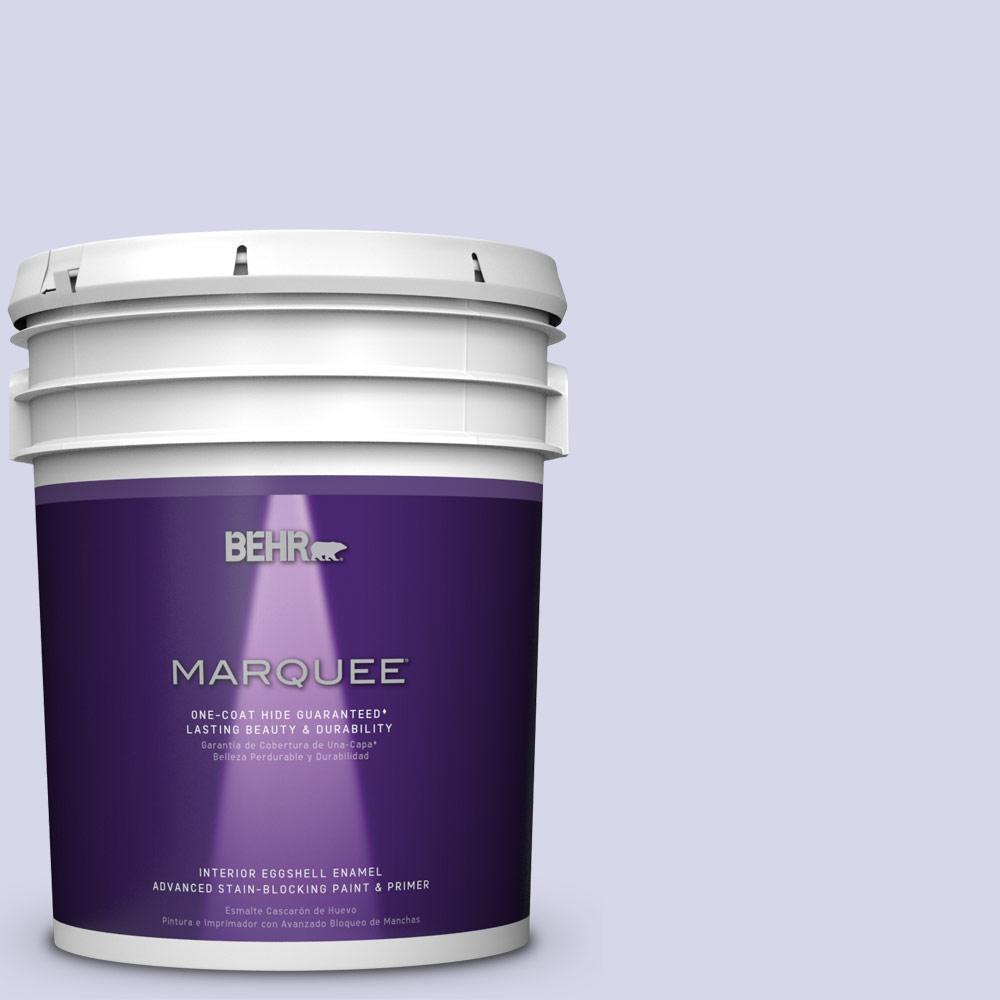 5 gal. #T12-17 Violet Water Eggshell Enamel Interior Paint