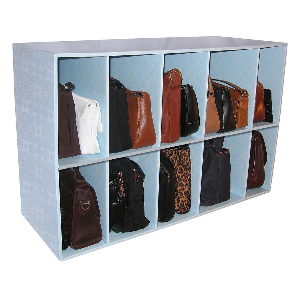 33 in. W x 21 in. H x 12 in. D Closet and Purse 10-Cube Organizer