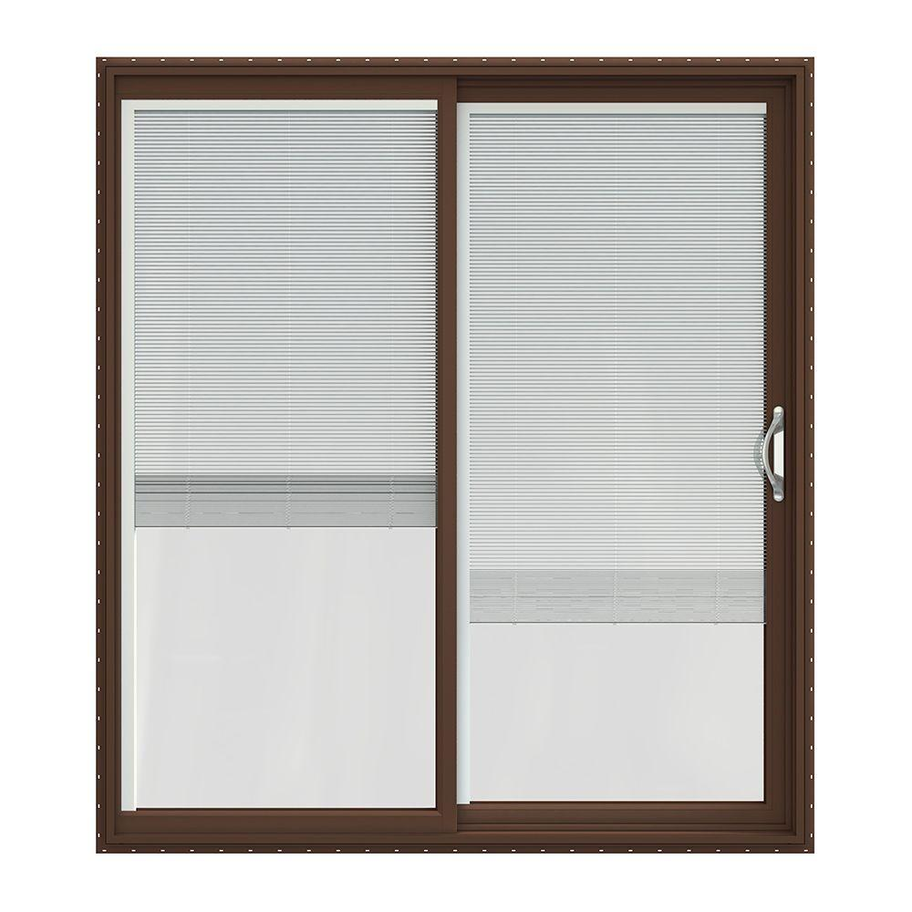 Jeld wen 72 in x 80 in v 2500 series vinyl sliding patio for Home depot outside doors