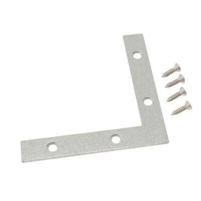4 in. Galvanized Flat Corner Brace (2-Pack)
